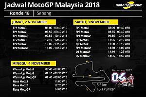 Jadwal lengkap MotoGP Malaysia 2018