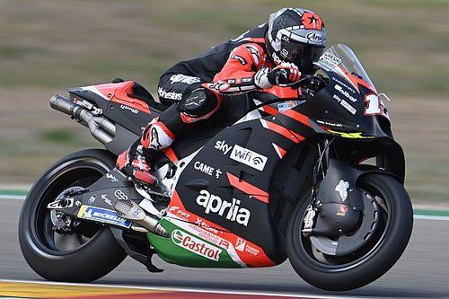 MotoGPサンマリノFP1:ビニャーレス、アプリリアで初のトップタイム! 終盤の降雨でスッキリしないセッションに