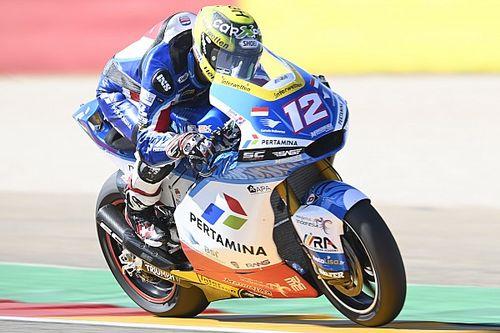 Hasil FP1 Moto2 San Marino: Thomas Luthi Kuasai Trek Basah-Kering