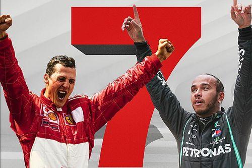 Dominante tijden vergeleken: Hamilton vs Schumacher in statistieken
