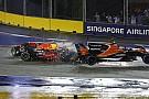 Max Verstappen valt uit in Grand Prix van Singapore na crash