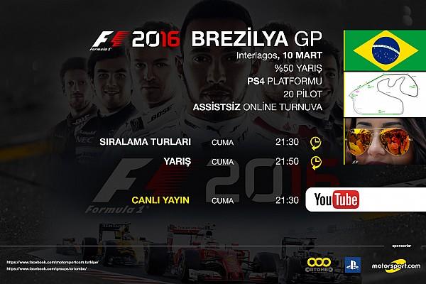 FORMULA 1 LİGİ Son dakika F1 2016 online turnuva: Brezilya GP - Canlı Yayın
