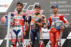 MotoGP Race report Misano MotoGP: Marquez beats Petrucci in rain-soaked thriller