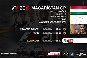 FORMULA 1 LİGİ Son dakika F1 2016 online turnuva: Macaristan GP - Canlı Yayın