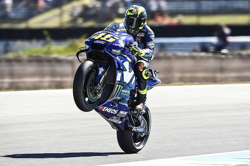 Rossi neemt in Assen geen genoegen met derde plaats