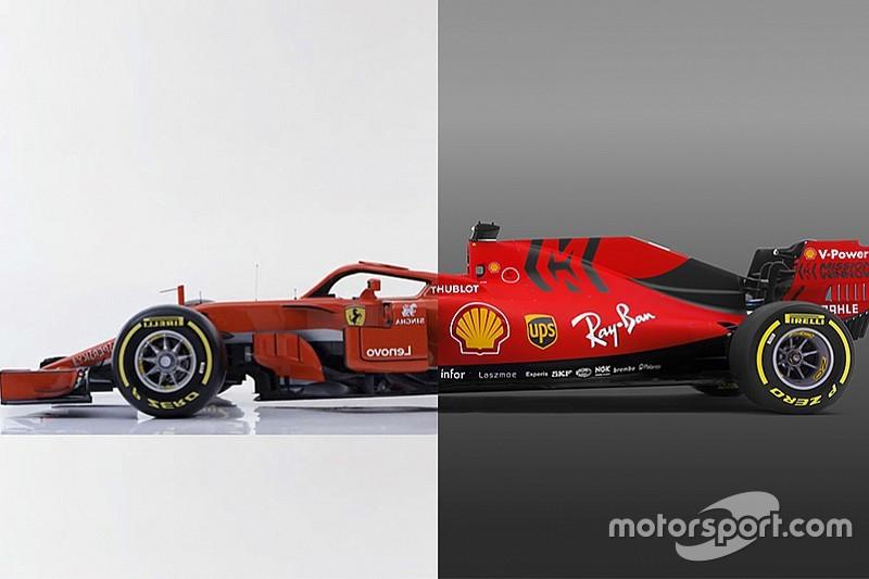 Ferrari SF71H (2018) Vs. Ferrari SF90 (2019): grafikán a különbségek