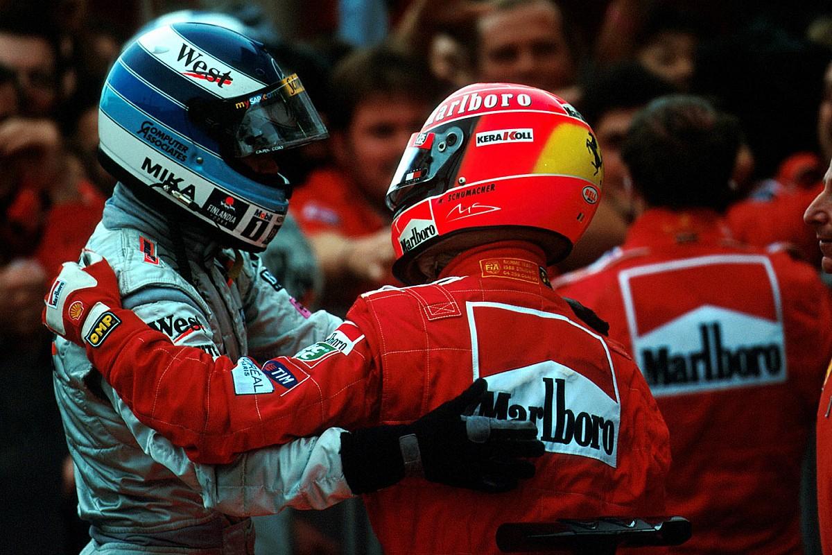 Вінтажне відео: Шумахер і Хаккінен у зимовому ролику Mercedes