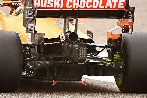 A McLaren okos diffúzor-trükkje az új szabályok kijátszására
