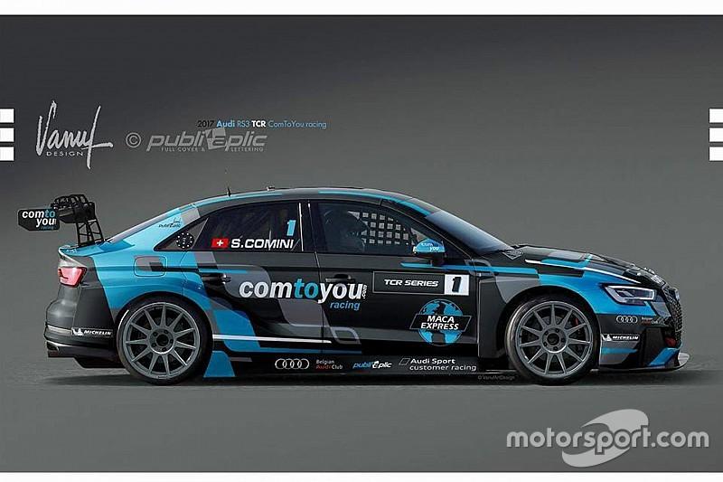 Comini a caccia del terzo titolo con l'Audi della Comtoyou Racing