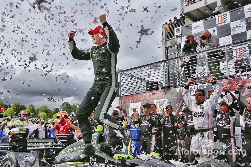 Barber IndyCar: Power puncture hands Newgarden the win