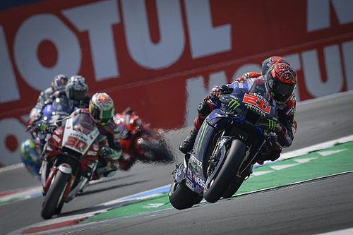 "Quartararo riding 2021 Yamaha MotoGP bike ""like an animal"""