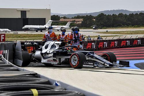 角田裕毅、予選Q1のクラッシュは「自分のミス。チームに申し訳ない」/F1フランスGP予選
