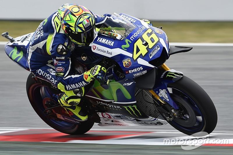 Catalunya Motogp Rossi Leads Marquez In Morning Warm Up