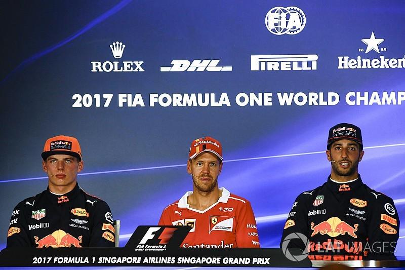 """Ricciardo: """"Hamilton en Vettel zijn niet beter dan Verstappen en ik"""""""