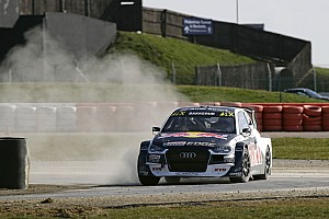 World Rallycross Testing report Ekstrom and EKS Audi quickest in Silverstone RX test