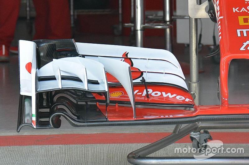 Ferrari revela su nuevo alerón delantero