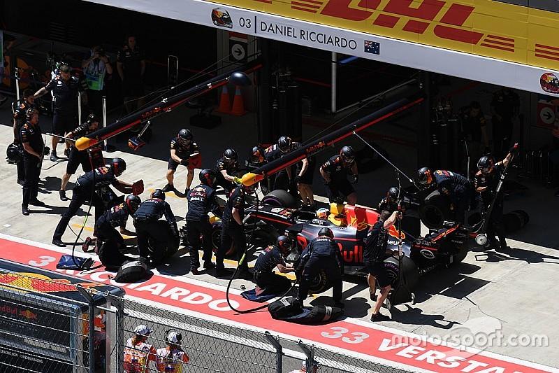Ricciardo estuvo cerca de chocar por su problema en el freno