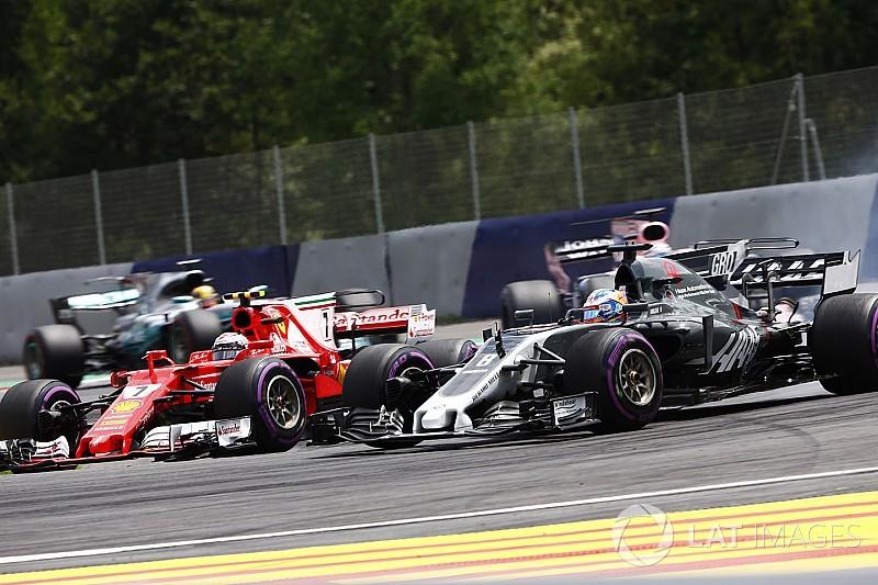 Grosjean gozó superar a Checo Pérez en pos del sexto lugar