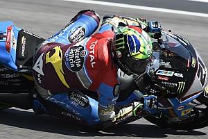 Moto2 Prove libere Barcellona, Libere 2: Morbidelli cade, ma è il più veloce. Bene Corsi terzo