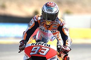 MotoGP Practice report MotoGP Aragon: Marquez pimpin warm-up, Rossi kesembilan