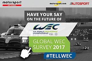 WEC Новини Motorsport.com Опубліковані результати Глобального опитування уболівальників WEC