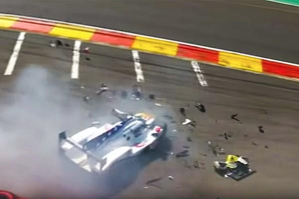 Fittipaldi podría tener fracturadas sus piernas tras el accidente en Spa- VIDEO