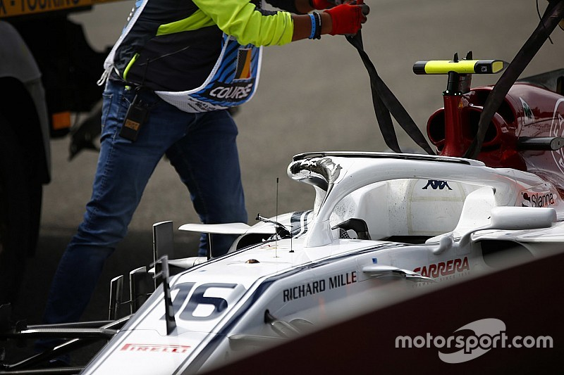Halo mobilnya tergores, Leclerc: Saya beruntung
