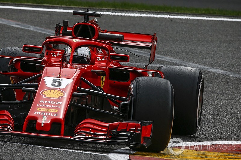 ベルギーFP3:ベッテル首位、フェラーリ1-2。終盤に混乱、ガスリー15番手