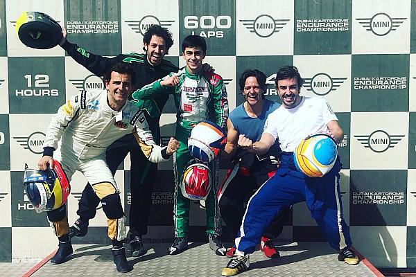 Kart Noticias de última hora Alonso acaba las 24h de Dubai de karting en cuarta posición
