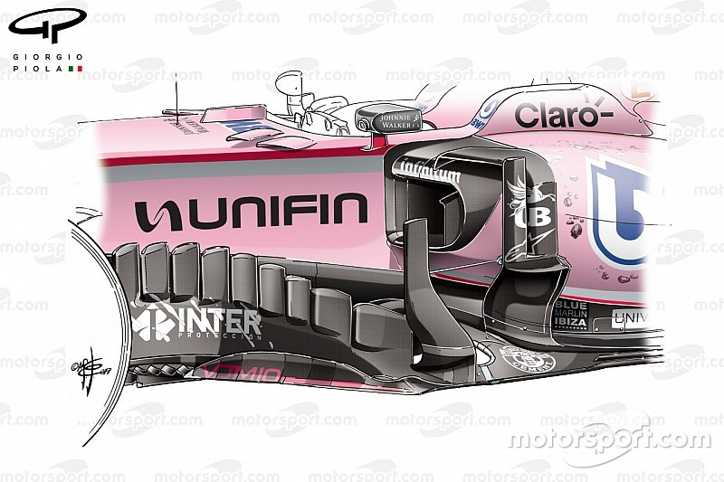 Formel-1-Technik: Force Indias Mexiko-Update unter der Lupe