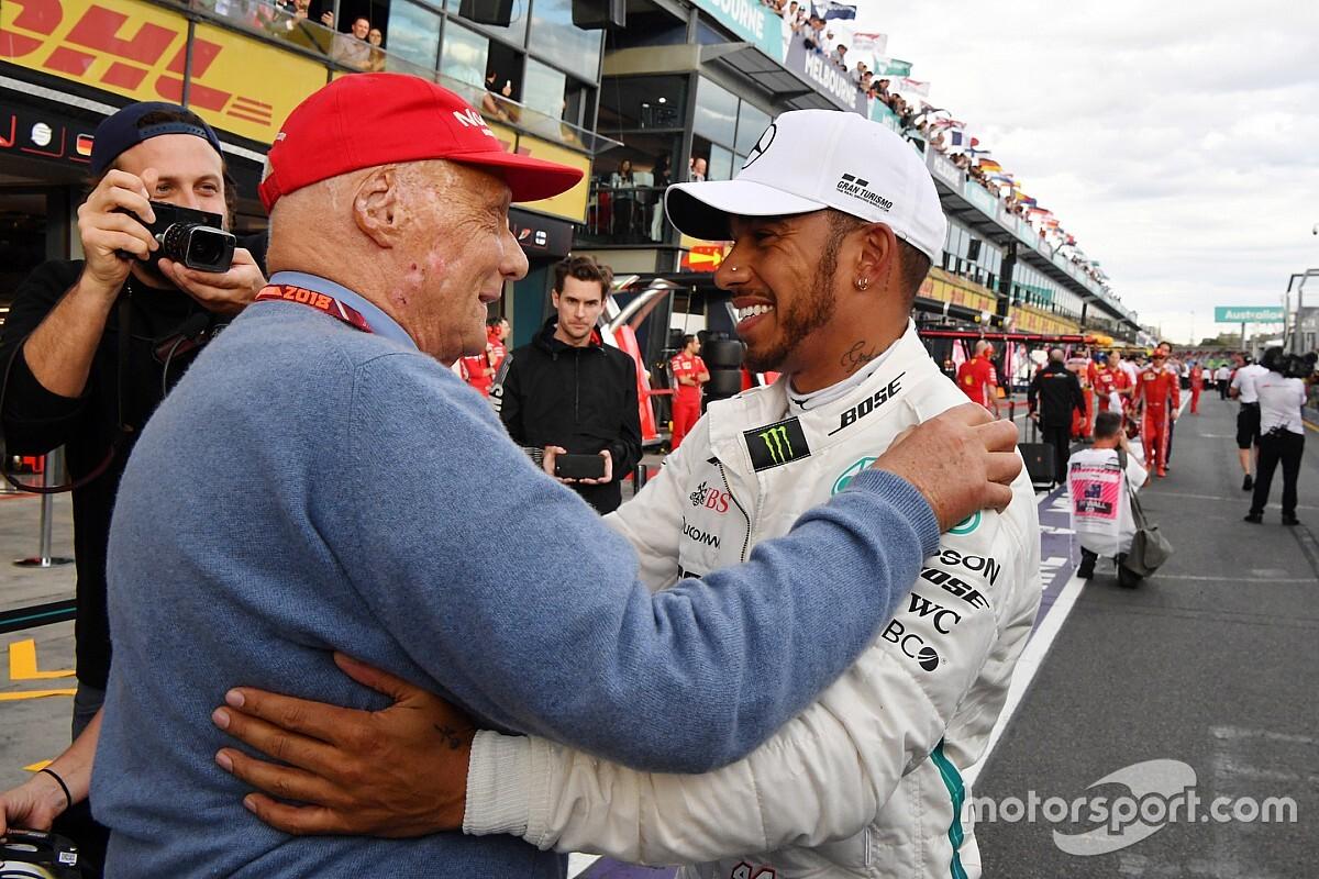 Hamilton diz que não sabe se Lauda volta ao paddock ainda em 2018