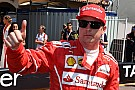 Raikkonen comemora pole, mas foca em corrida