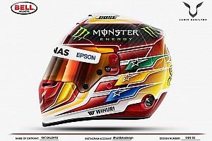 Formule 1 Diaporama Lewis Hamilton présente son nouveau casque
