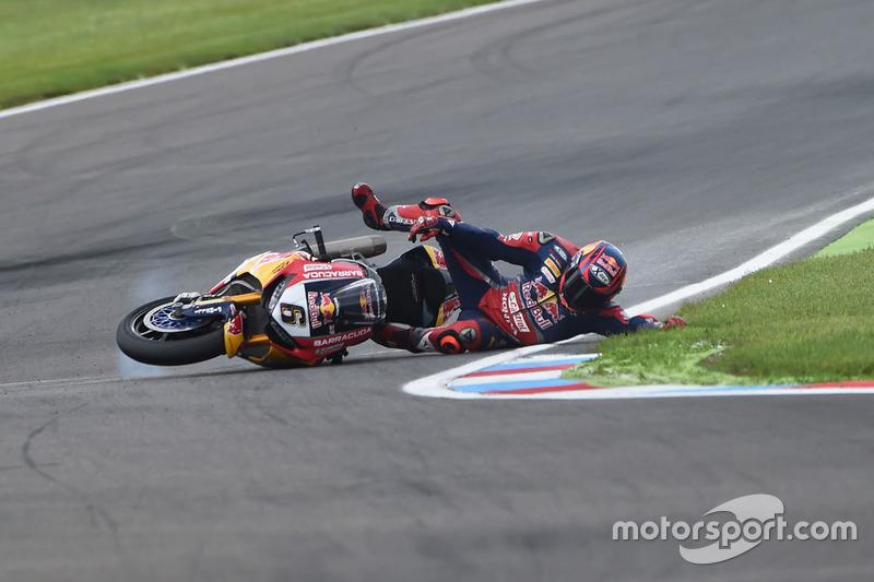 La caduta di Stefan Bradl, Honda World Superbike Team