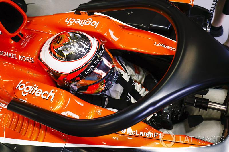 Stoffel Vandoorne, McLaren, avec le Halo