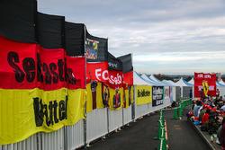 Fans Atmosphere and flag for Sebastian Vettel, Ferrari