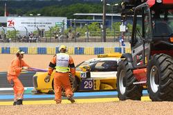 #29 Racing Team Nederland Dallara P217 Gibson: Frits van Eerd dans les graviers