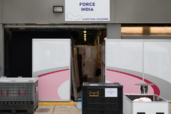 Force india F1 team pit garage