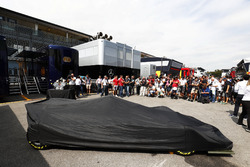 The new 2018 F2 car ready to unveil in the paddock