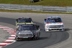 Christopher Bell, Kyle Busch Motorsports Toyota, John Hunter Nemechek, SWM-NEMCO Motorsports Chevrolet and Justin Haley, GMS Racing Chevrolet