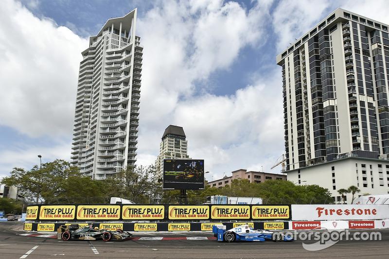 Simon Pagenaud, Team Penske, Chevrolet; Spencer Pigot, Ed Carpenter Racing, Chevrolet