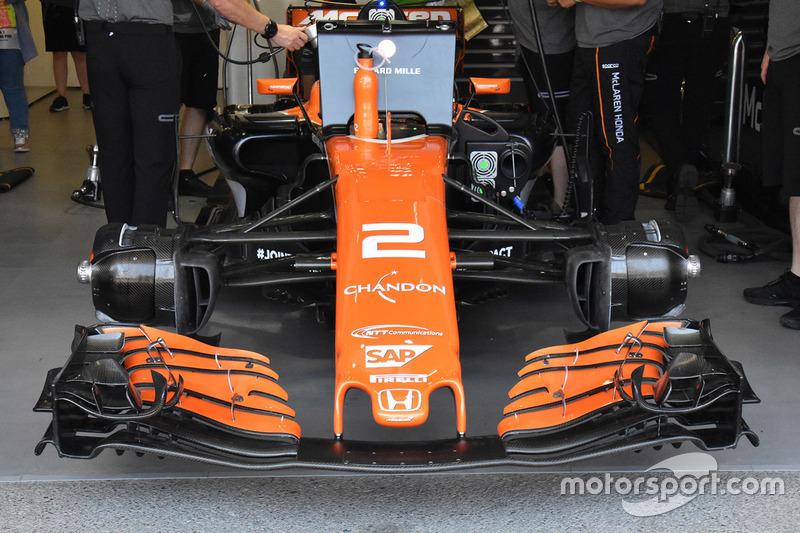 Stoffel Vandoorne, McLaren MCL32: Frontflügel