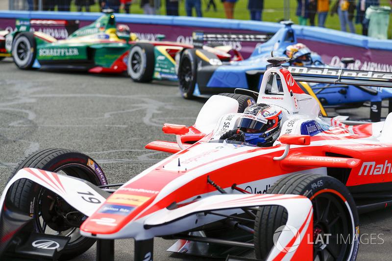 Felix Rosenqvist, Mahindra Racing,Sébastien Buemi, Renault e.Dams,Daniel Abt, ABT Schaeffler Audi Sport
