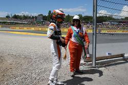 Race retiree Stoffel Vandoorne, McLaren
