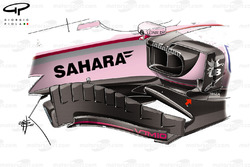 Force India VJM10, barge board