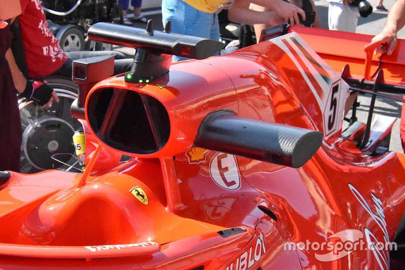 Entrada de aire del Ferrari SF71H