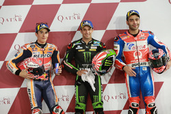 Top 3 des qualifications : Marc Marquez, Repsol Honda Team, Johann Zarco, Monster Yamaha Tech 3, Danilo Petrucci, Pramac Racing