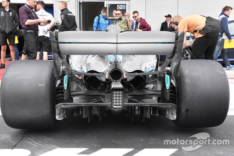 Detalle difusor Mercedes-AMG F1 W09