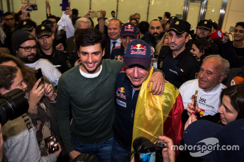 Carlos Sainz, Peugeot Sport with son Carlos Sainz Jr.