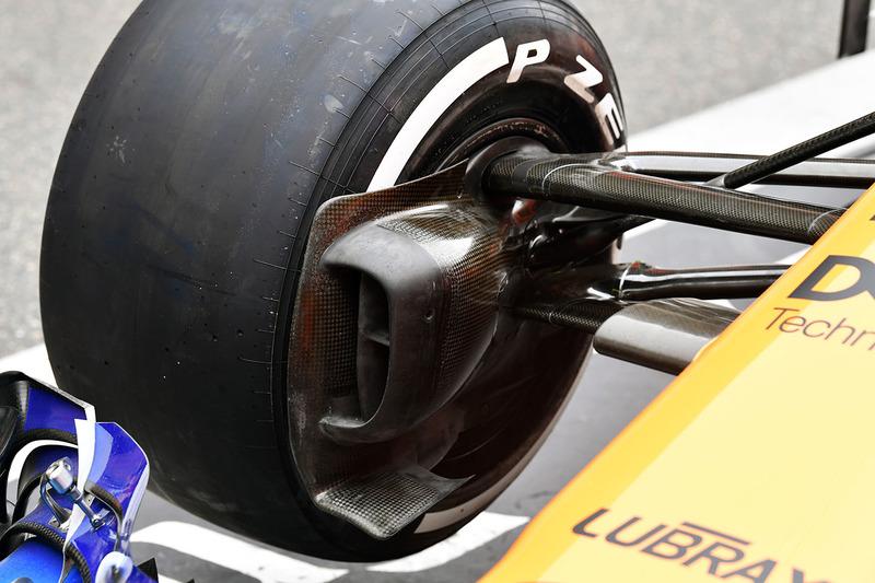 McLaren MCL33 brake duct detail